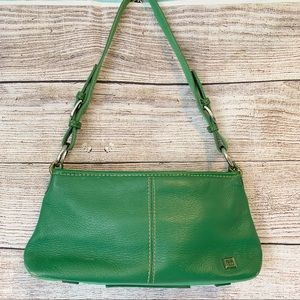 Vintage The SAK Small Green Leather Shoulder Bag